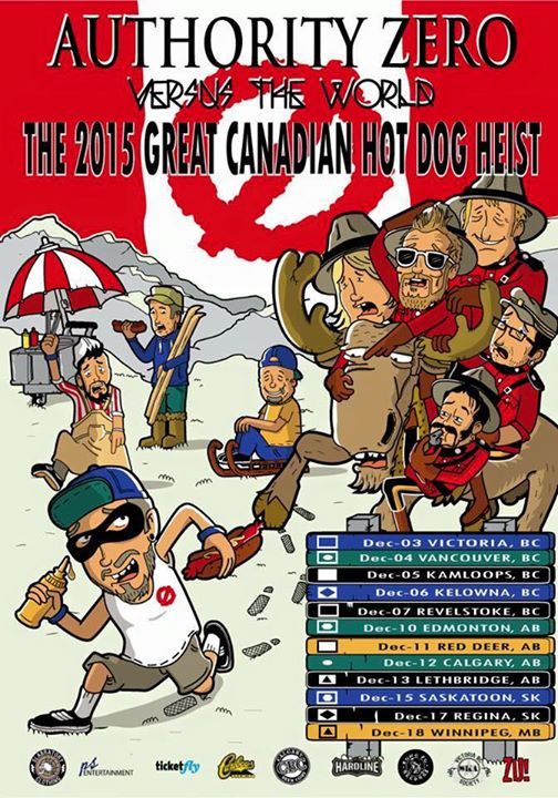 Authority Zero - Great Canadian Hot Dog Heist Tour - Poster
