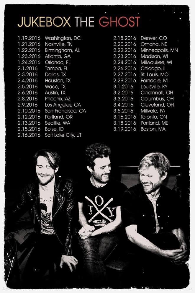 Jukebox the Ghost - North American Tour - 2016 Tour Poster