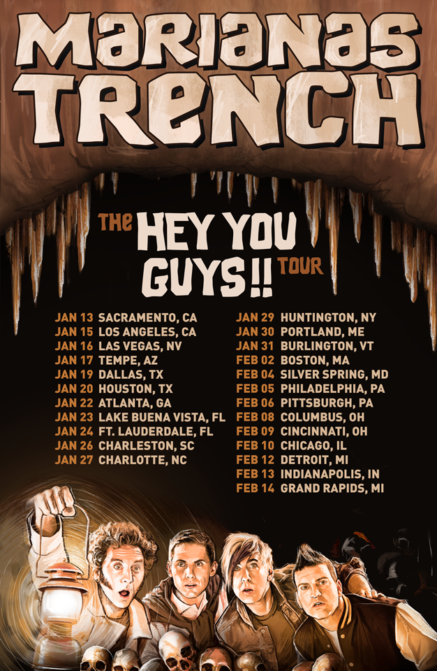 Marianas Trench - Hey You Guys!! Tour Second Leg - poster