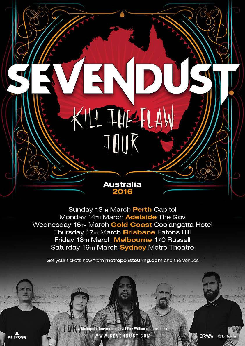 Sevendust-Kill The Flaw Tour-poster