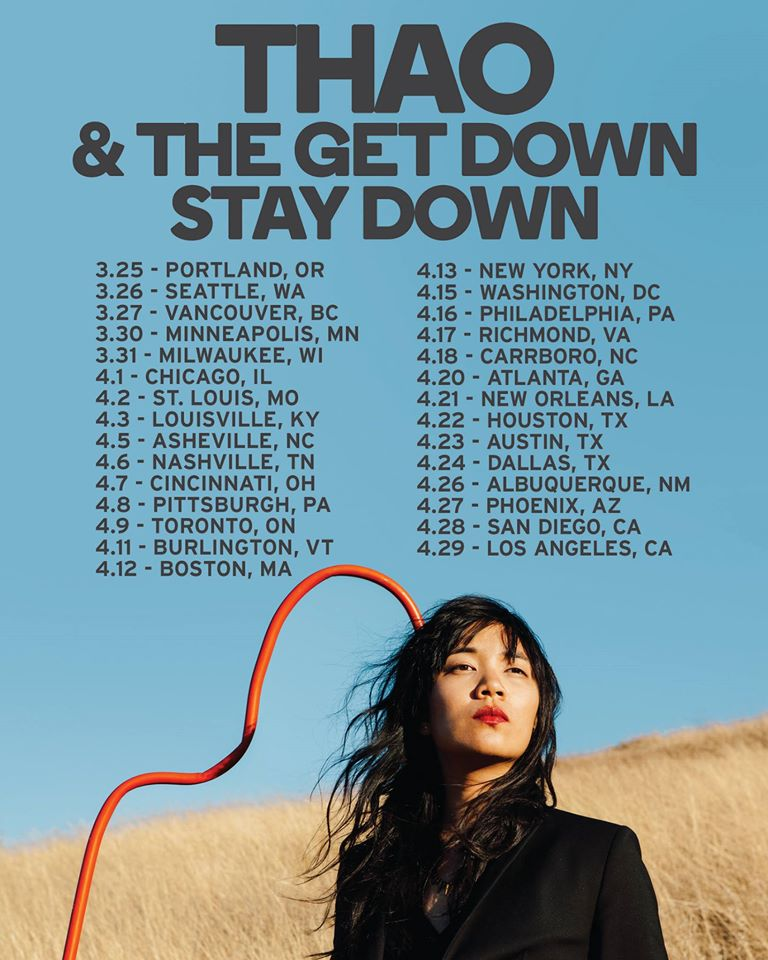 Thao and The Get Down Stay Down - Spring 2016 Tour - poster