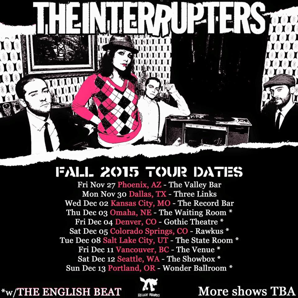 The Interrupters-Fall 2015 U.S. Tour-poster