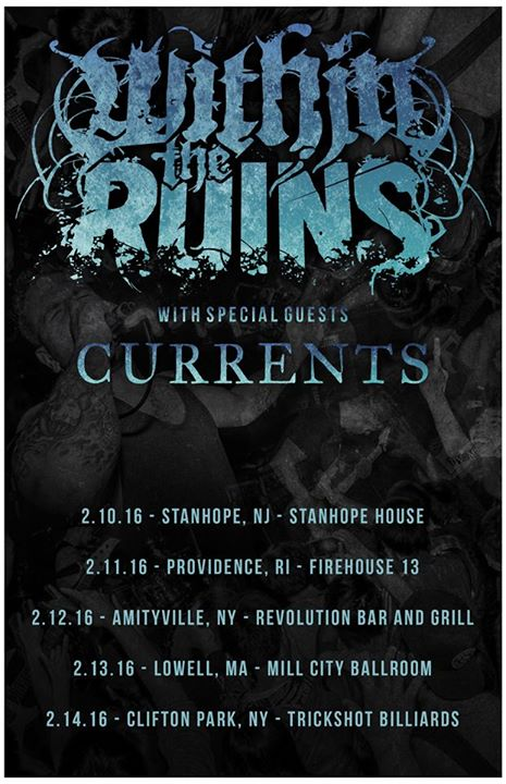 Within The Ruins - 2016 New England Tour - Poster