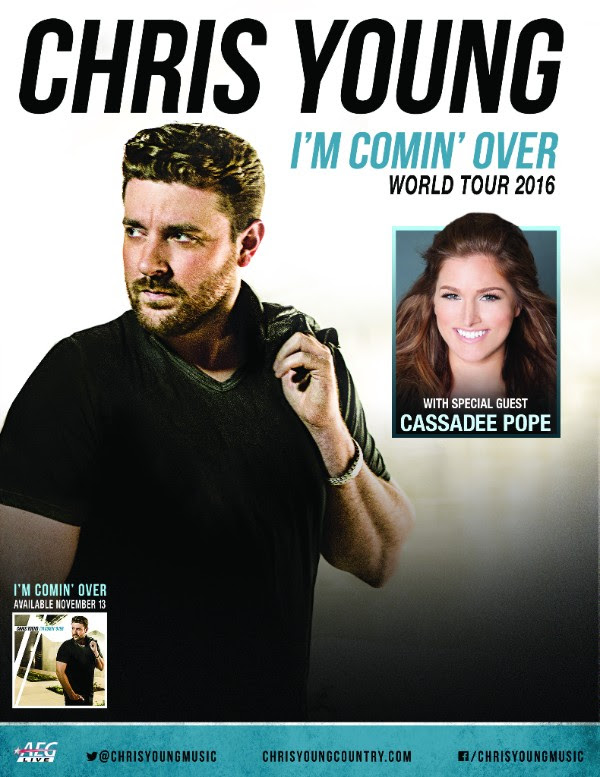 Chris Young - I'm Comin' Over Tour - poster