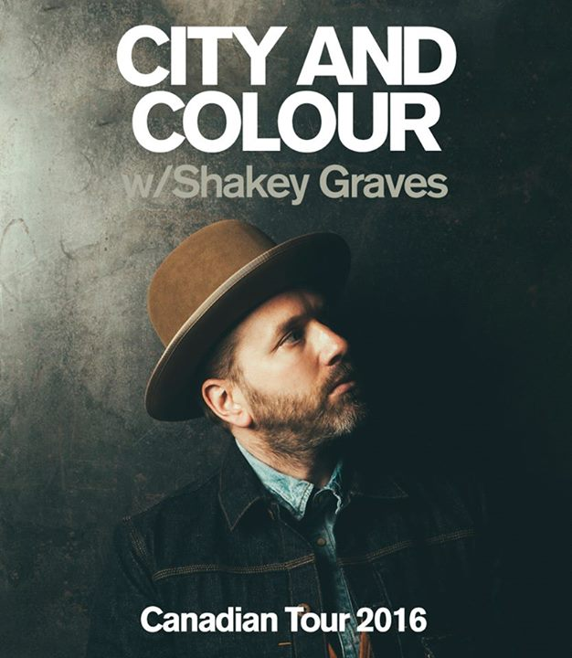 City and Colour-2016 canadian tour-poster