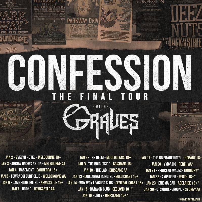 Confession - The Final 2016 Australian Farewell Tour - 2016 Tour Poster