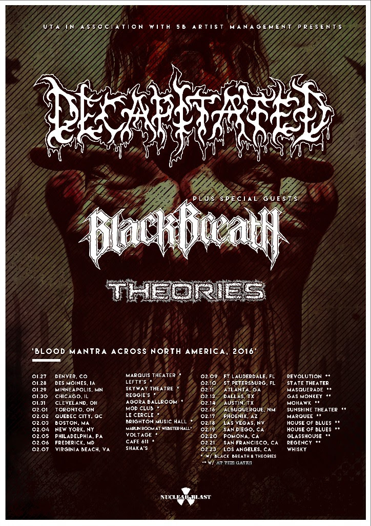 Decapitated - Blood Mantra Across North America Tour - Poster