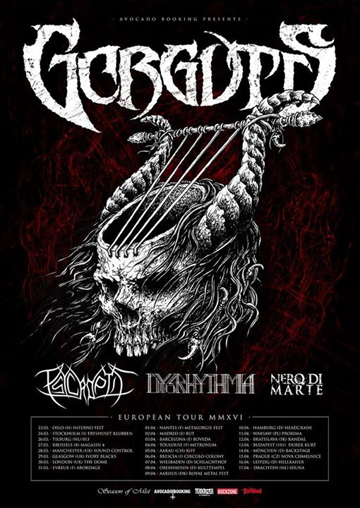 Gorguts - European Tour 2016 - Poster