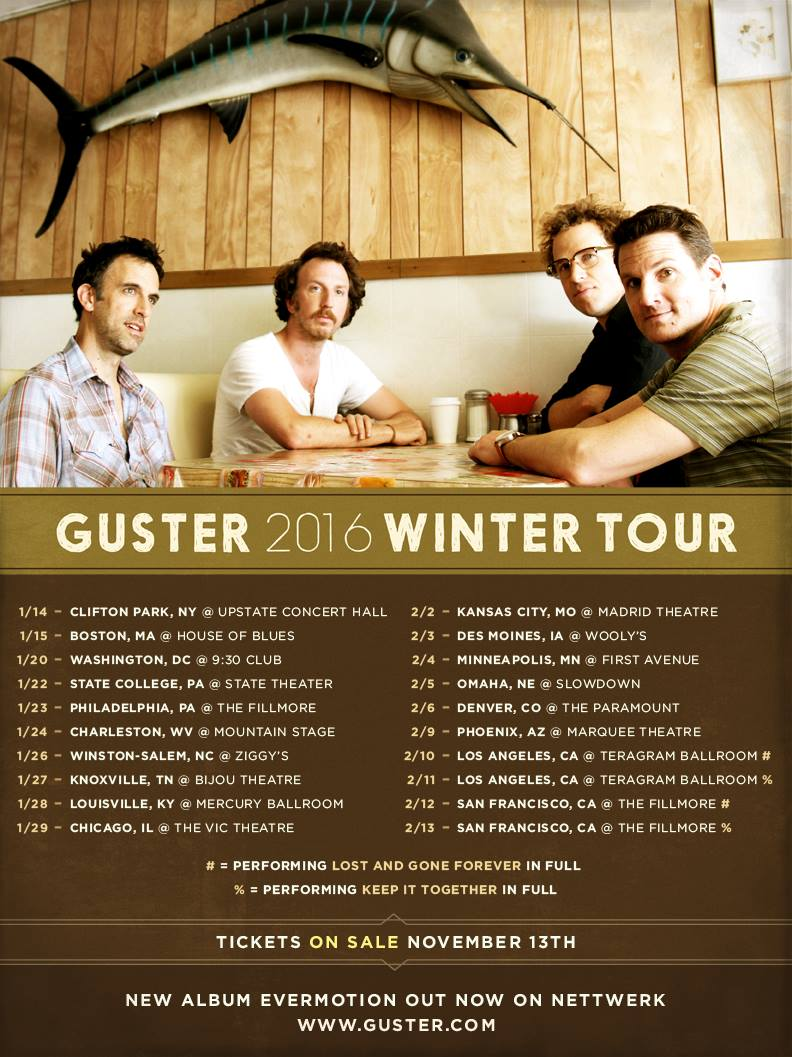 Guster - Winter 2016 Tour - poster