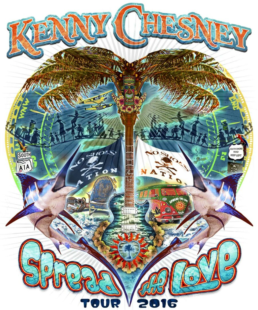 Kenny Chesney-Spread The Love 2016 tour-poster