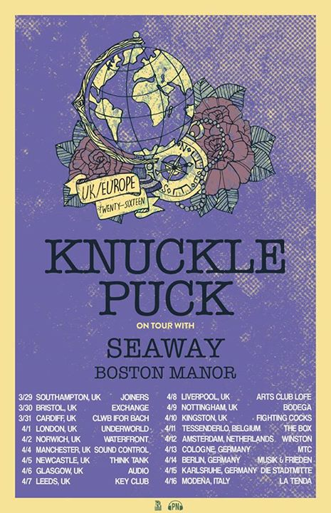 Knuckle Puck - 2016 UK and Europe Tour - Poster