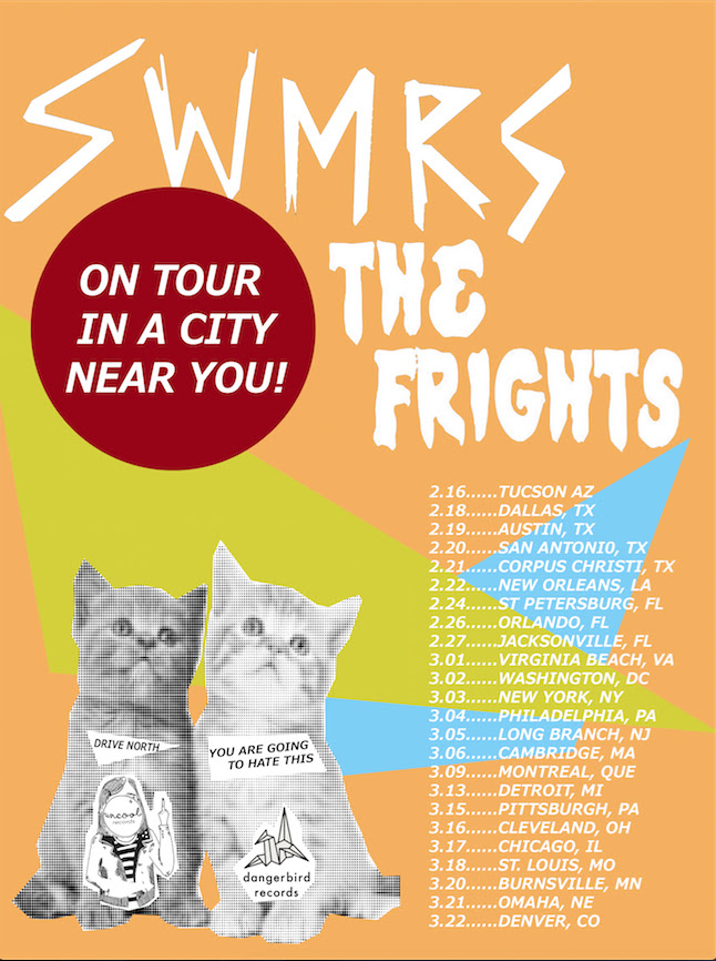 SWMRS - North American Tour - 2016 Tour Poster