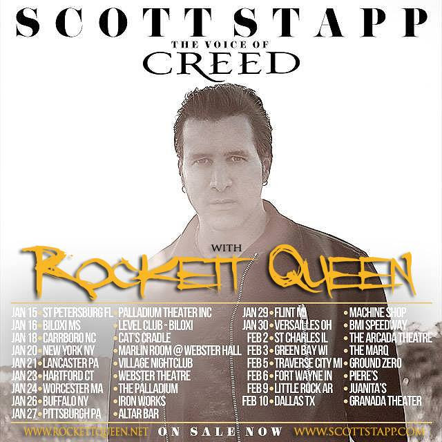 Scott Stapp - U.S. Tour 2016 - poster