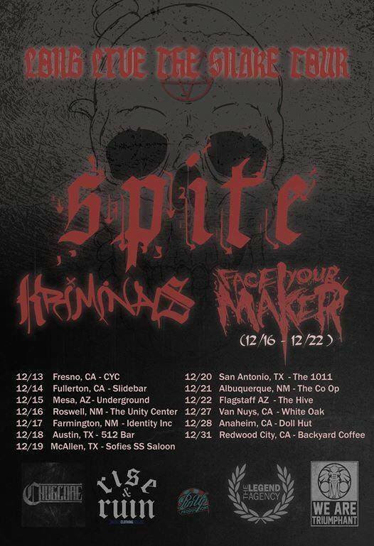 Spite - Long Live The Snake Tour - poster