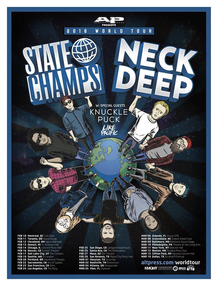 State Champs & Neck Deep-2016 U.S. tour-poster