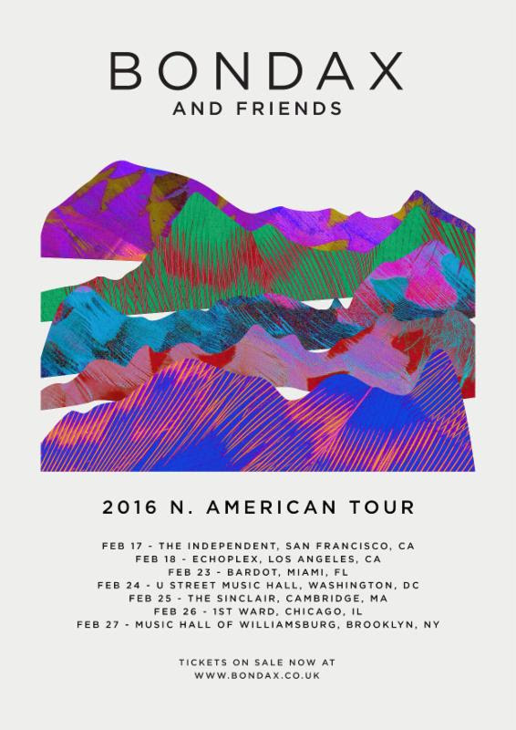 Bondax - The Bondax and Friends 2016 U.S. Tour - 2016 Tour Poster