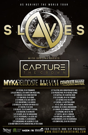 Slaves - The Us Against The World 2016 U.S. Tour - 2016 Tour Poster