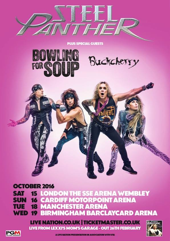 Bowling For Soup - UK Arena Tour 2016 - poster
