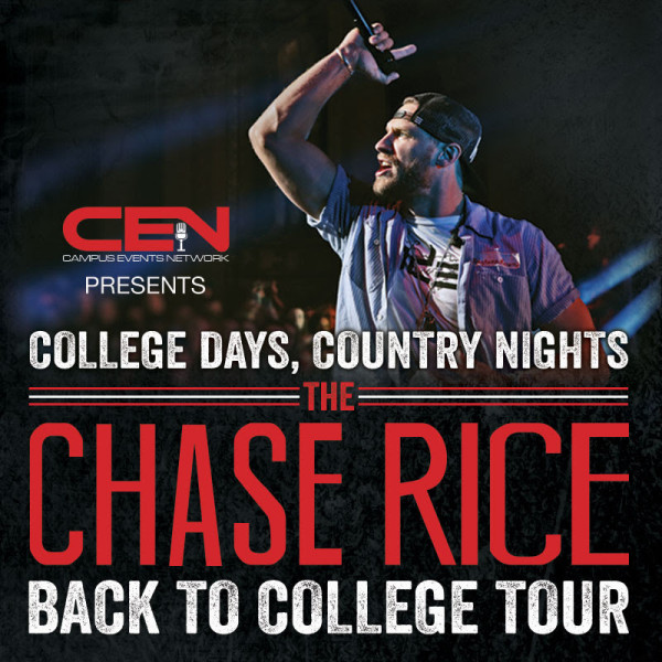 Chase Rice - Back To College Tour - poster