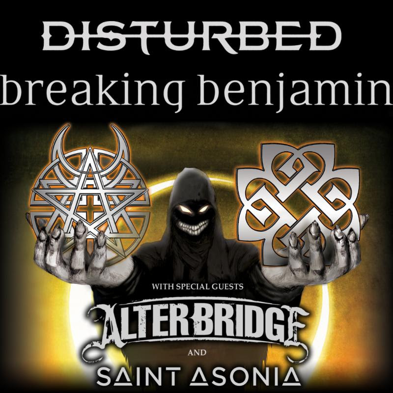 Disturbed and Breaking Benjamin - 2016 North American Tour - 2016 Tour Poster