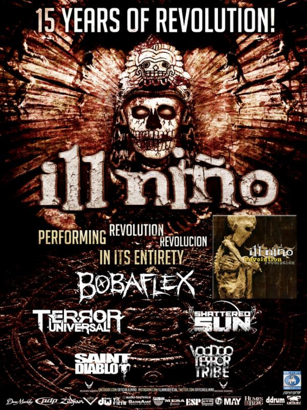 Ill Niño - 15 Years of Revolution Anniversary Tour - poster