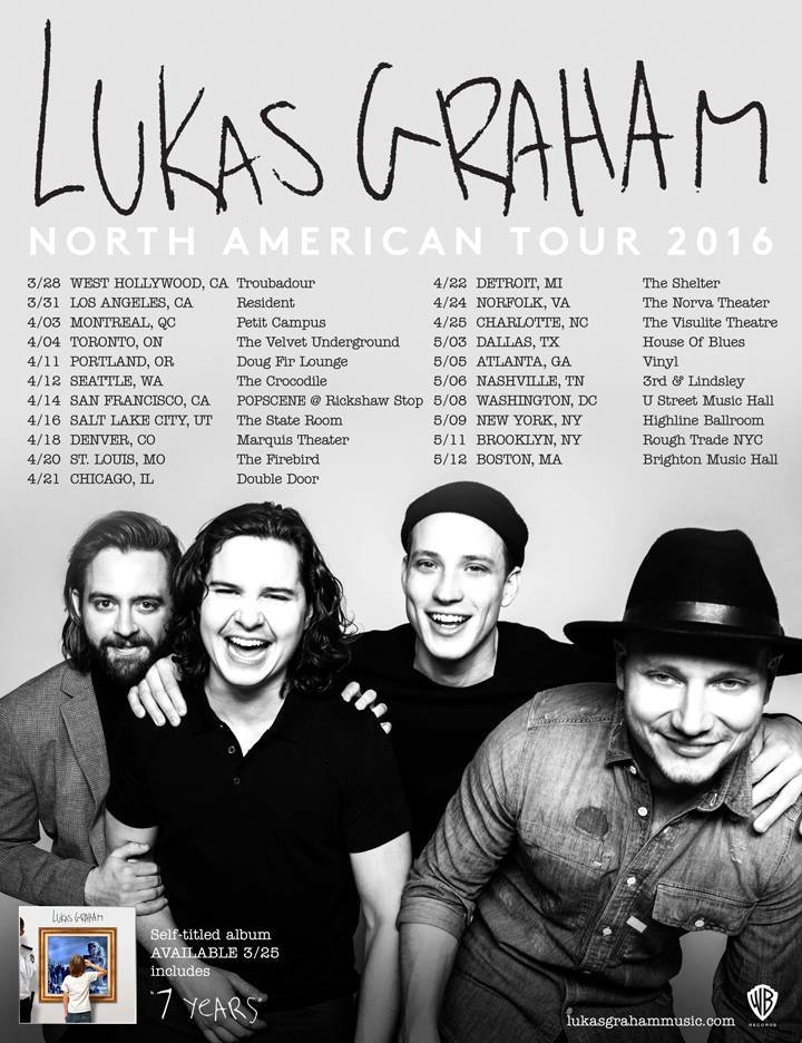 Lukas Graham - 2016 North American Tour - 2016 Tour Poster