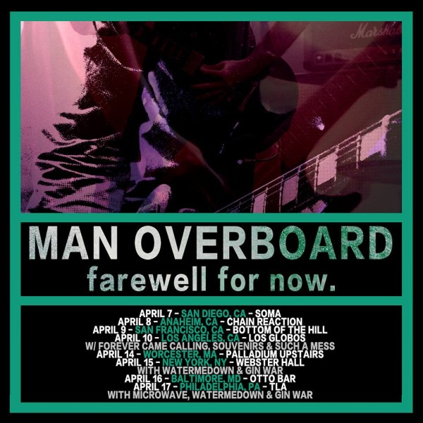 Man Overboard - Farewell For Now tour - poster