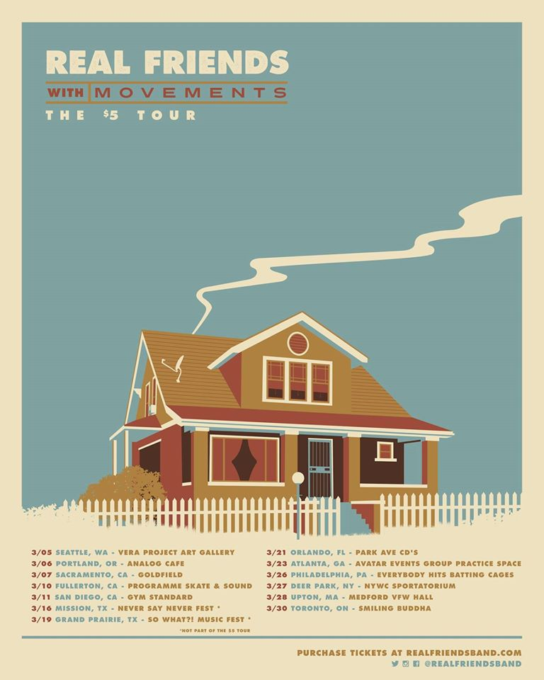 Real Friends - The $5 Tour - poster