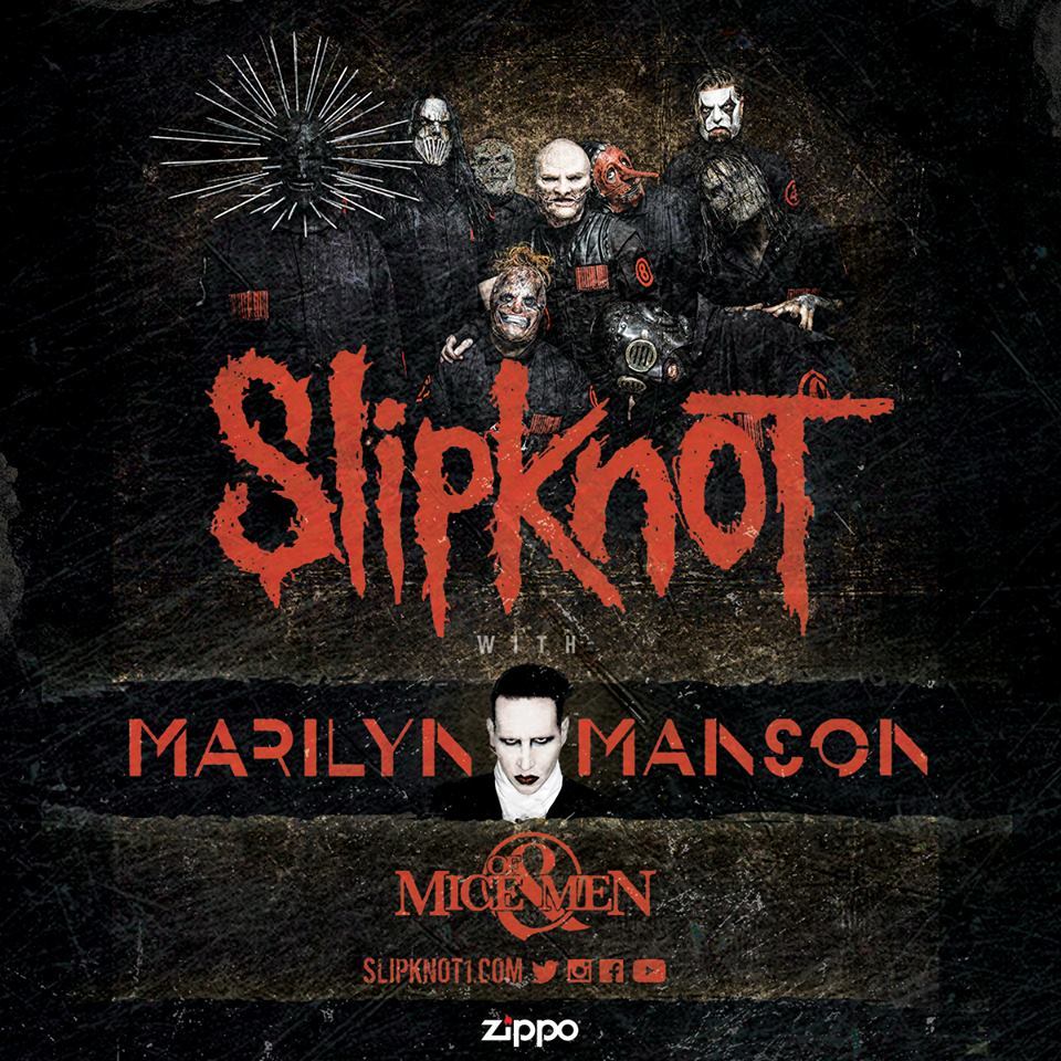 Slipknot - North American summer 2016 tour - poster