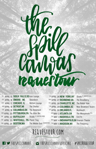 The Spill Canvas - Requestour - Poster