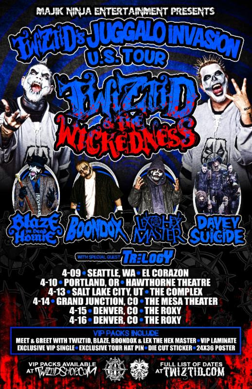 Twiztid - The Juggalo Invasion Tour (US LEG) - poster