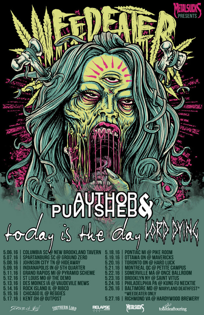 Weedeater - second leg of North American tour- poster
