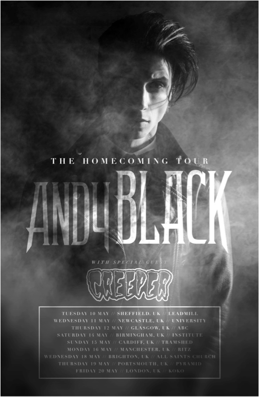 Andy Black - The Homecoming Tour - poster