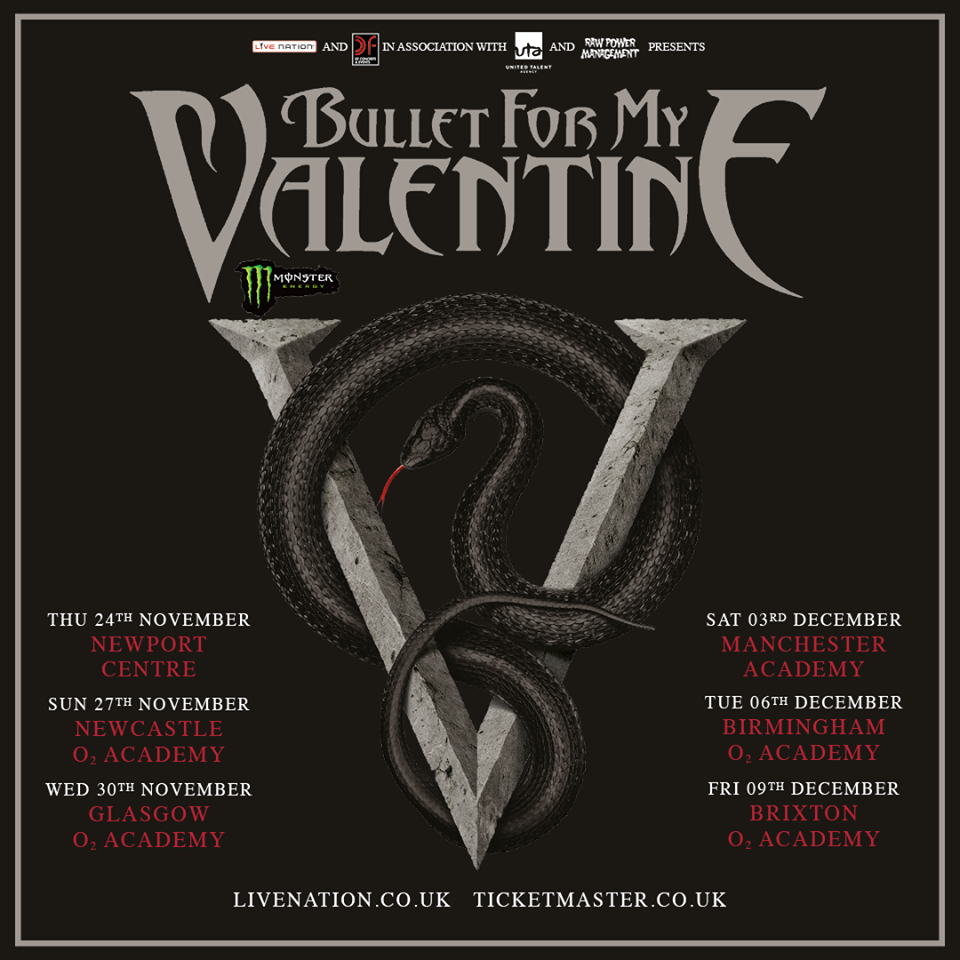 Bullet For My Valentine-2016 UK Tour-poster