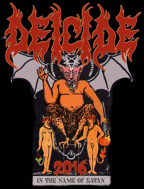 Deicide - In The Name of Satan Tour 2016 - poster