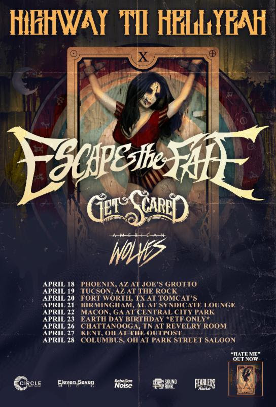 Escape The Fate - Highway To Hell Yeah Tour - poster