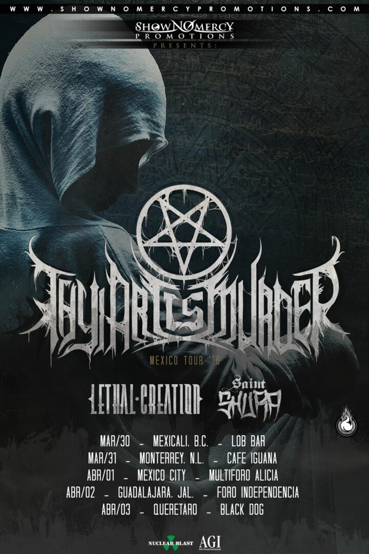 Thy Art Is Murder - 2016 Mexico Tour - 2016 Tour Poster