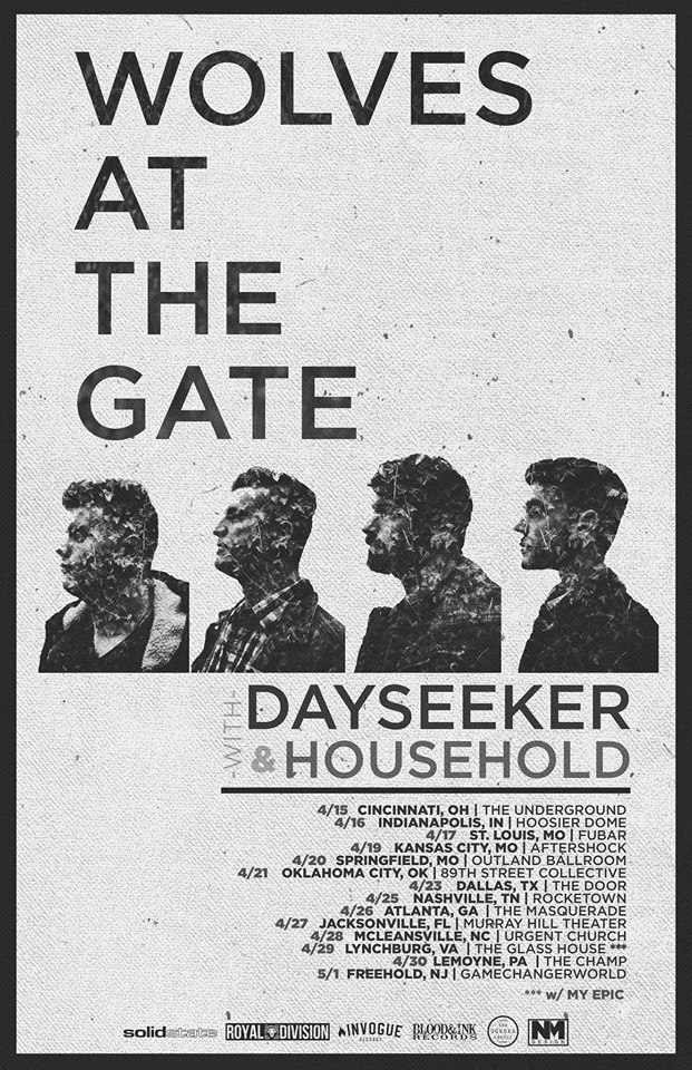 Wolves At The Gate - Spring U.S. tour - poster