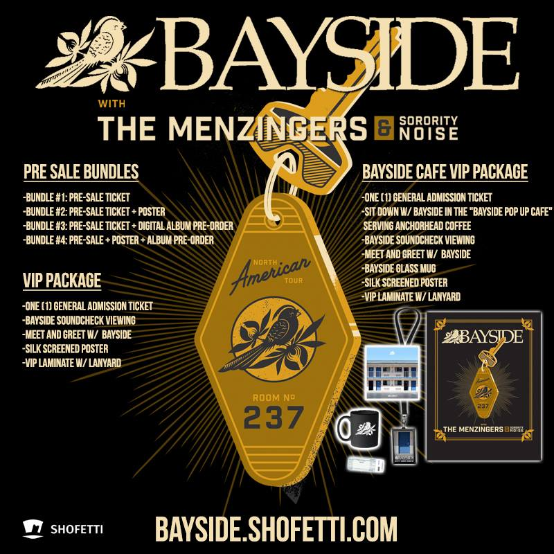 Bayside - Summer North American Tour - 2016 Tour Poster