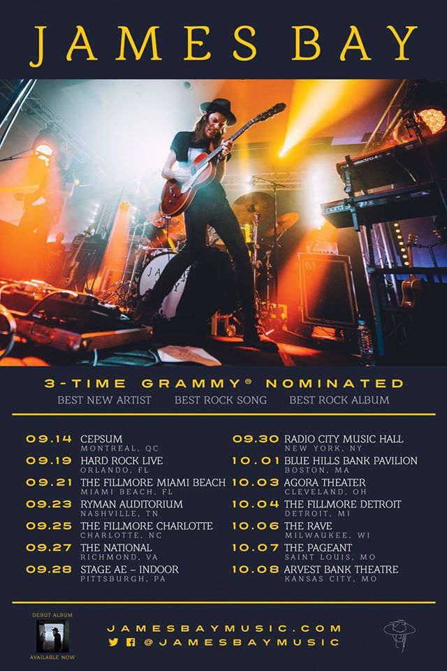 James Bay - Fall North America Tour - poster