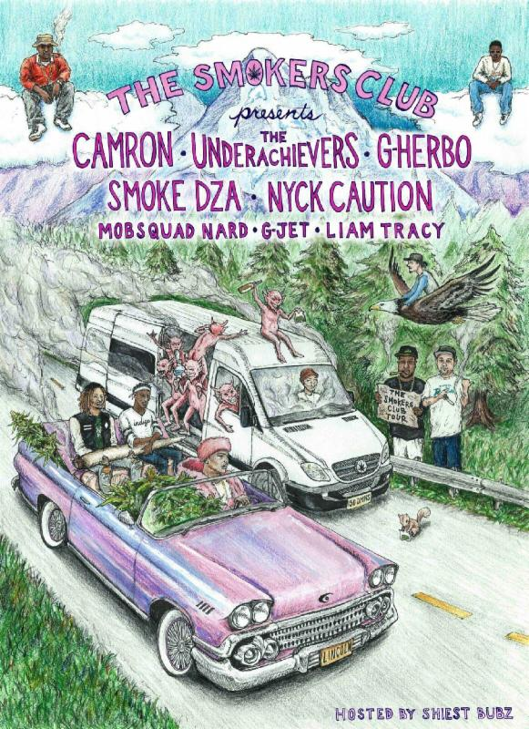 Smokers Club - 2016 LineUp - poster