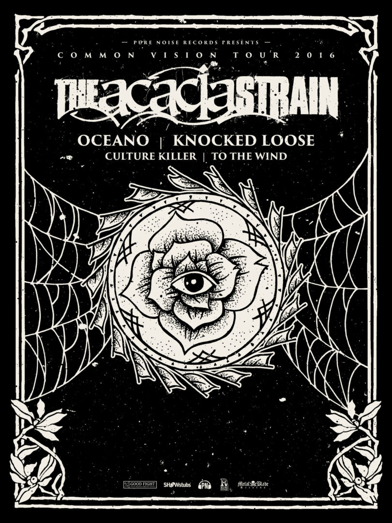 The Acacia Strain - U.S. Common Vision Tour - 2016 Tour Poster