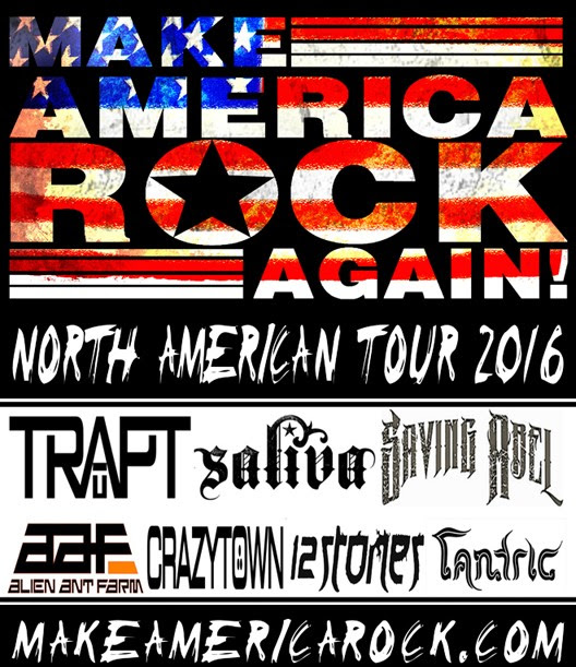 U.S. Make America Rock Again Tour - 2016 Tour Poster