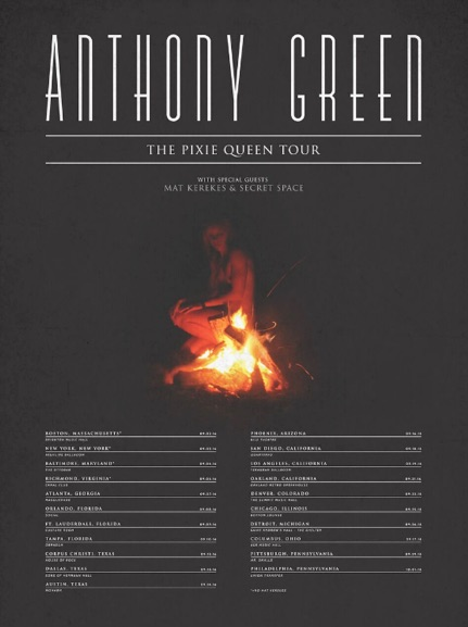 Anthony Green - U.S. Pixie Queen Tour - 2016 Tour Poster