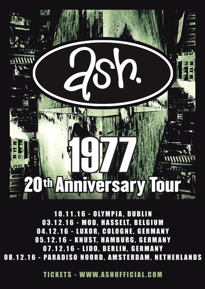 Ash - North American and European 1977 20th Anniversary Tour 2 - 2016 Tour Poster