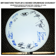 BryanStars Tour 2012 Signed Drumhead – Giveaway
