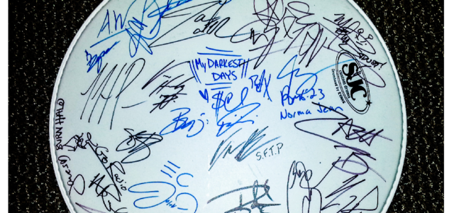 Drumhead Signed by Parachute, Sevendust, Norma Jean + More – Giveaway