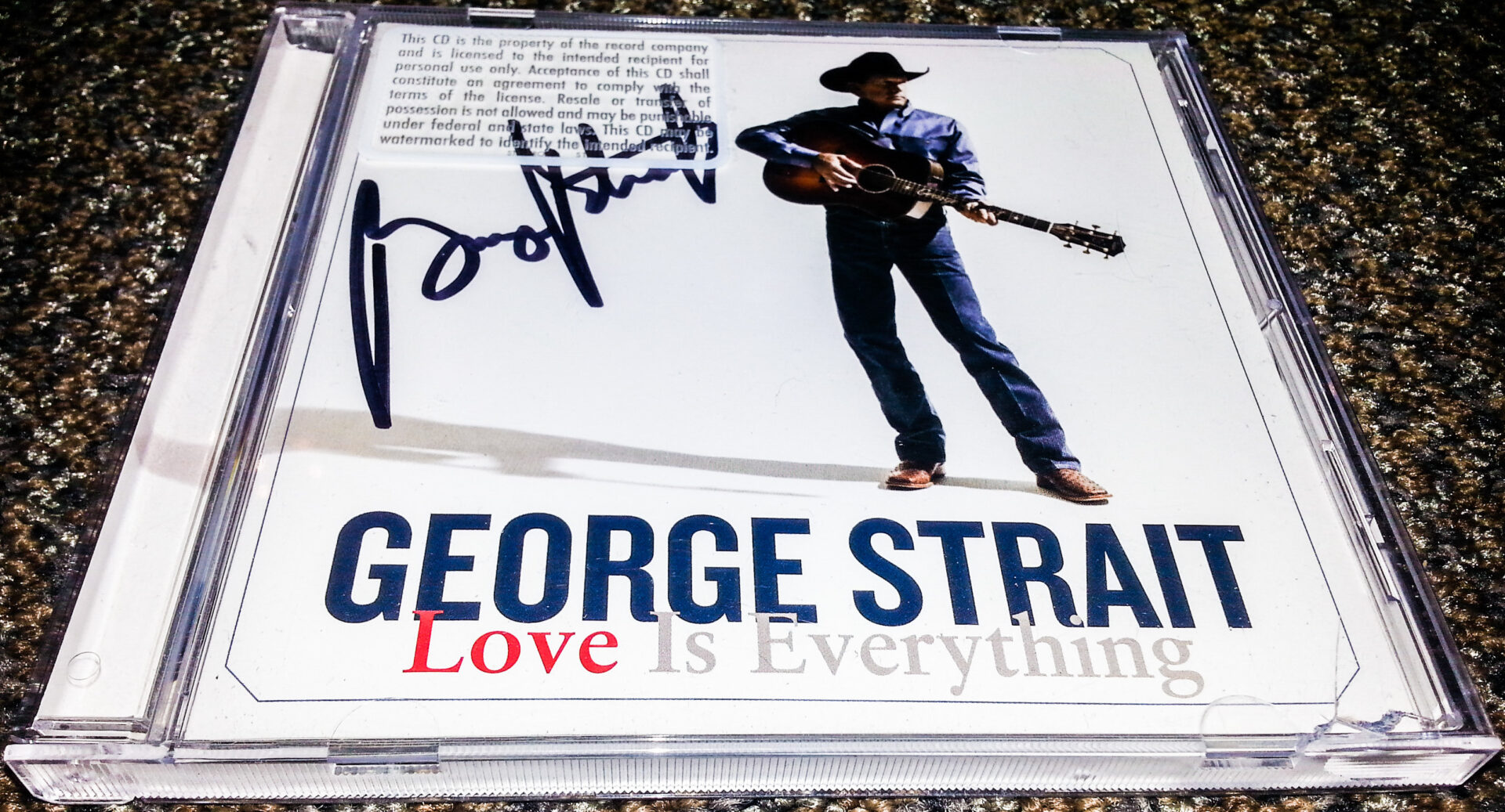 George Strait Signed CD - Contest