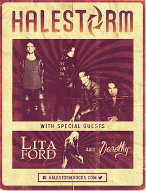 Halestorm - North American Fall Tour - poster
