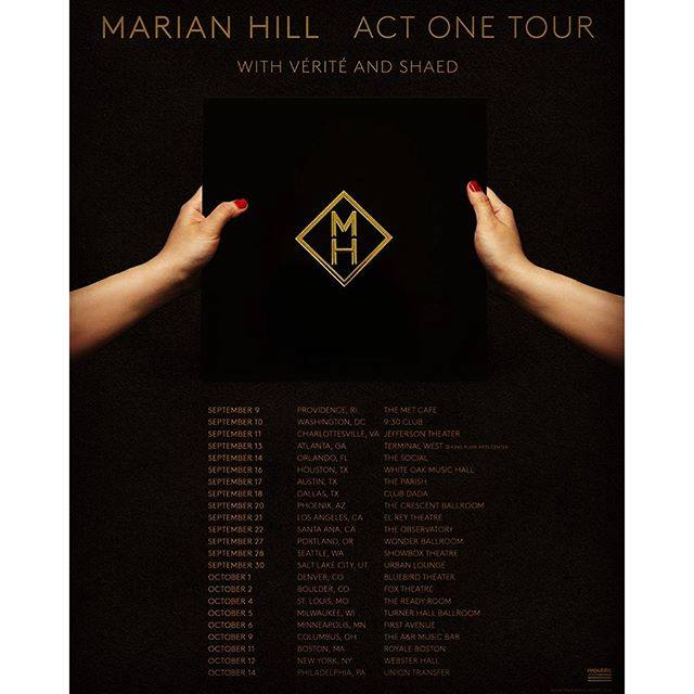 Marian Hill - U.S. Act One Tour - 2016 Tour Poster